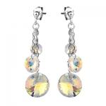 Серебряные серьги Monella с кристаллами Сваровски MOE339