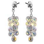 Серебряные серьги Monella с кристаллами Сваровски MOE333