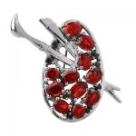Серебряная брошь Sandara ABBR007