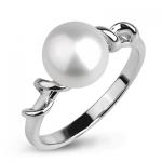 Серебряное кольцо De Luna с жемчугом FRR022