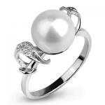 Серебряное кольцо De Luna с жемчугом FRR012