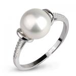 Серебряное кольцо De Luna с жемчугом FRR008