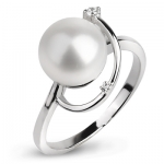 Серебряное кольцо De Luna с жемчугом FRR004