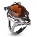 Серебряное кольцо Sandara с раухтопазом ABR032