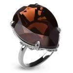 Серебряное кольцо Sandara с раухтопазом ABR025