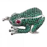 Кольцо серебряное Лягушка 01К258978ЧР-1