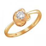 Кольцо из красного золота  01К1111472