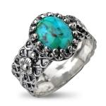 Серебряное кольцо Yaffo с бирюзой SAR773