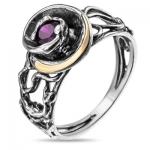 Серебряное кольцо Yaffo с фианитом SAR886