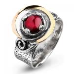 Серебряное кольцо Yaffo с гранатом SAR925
