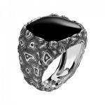 Перстень печатка Totem с агатом 01Т458790Ч