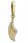 Золотая подвеска Крылья с бриллиантами 01П637424