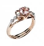 Золотое кольцо с бриллиантами 01К669681