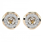 Золотые серьги с бриллиантами 01С669683Ж