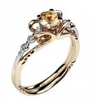 Золотое кольцо с бриллиантами 01К669681Ж