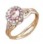 Золотое кольцо с бриллиантами 01К669683-1