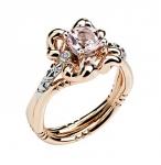 Золотое кольцо с бриллиантами 01К669682