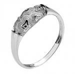 Кольцо из белого золота 01К0210169