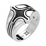 Перстень мужскй серебряный 01Т058346Э