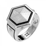 Перстень мужскй серебряный 01Т058345Э