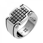 Перстень мужскй серебряный 01Т058343Э