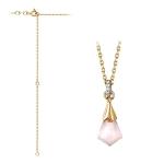 Золотое колье с розовым кварцем 01Л361157-1