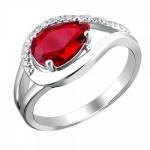 Серебряное кольцо с фианитами 01К2511676-3
