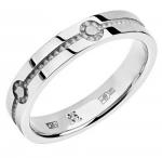 Обручальное кольцо из белого золота 01О020330