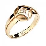 Кольцо из золота с бриллиантами 01К618748