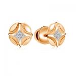 Серьги золотые с бриллиантами 01С618748