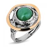 Серебряное кольцо Yaffo с авантюрином SAR685-1