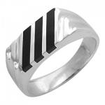Перстень печатка из серебра 01Т455206