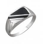 Перстень печатка из серебра 01Т451554