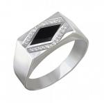 Перстень печатка из серебра 01Т455117