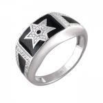 Перстень печатка из серебра 01Т154956Э