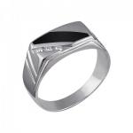 Перстень печатка из серебра 01Т451653-1