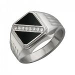 Перстень печатка из серебра 01Т455008-1