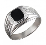 Перстень печатка из серебра 01Т451621-1