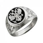 Перстень печатка из серебра 01Т455223-1