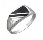 Перстень печатка из серебра 01Т451554-1