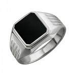 Перстень печатка из серебра 01Т455419-1