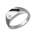 Перстень печатка из серебра 01Т455201-1