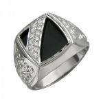 Перстень печатка из серебра 01Т455007-1