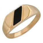 Перстень печатка из золота 01Т411524-1