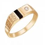 Перстень печатка из золота 01Т418563-1