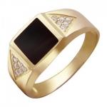 Перстень печатка из золота 01Т416505-1