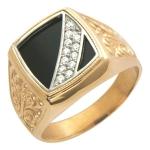 Перстень печатка из золота 01Т465007-1