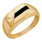 Перстень печатка из золота 01Т413994-1