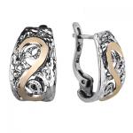 Серебряные серьги Yaffo с золотом SAE1094