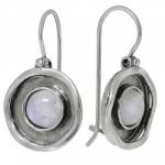Серьги из серебра с лунным камнем 01E590MS
